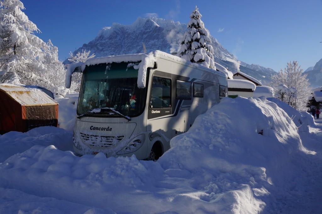 Sneeuw camper